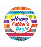 """21"""" ColorBlast Happy Father's Day Stripes Balloon"""