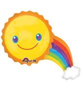 """33"""" SuperShape Rainbow Balloon"""