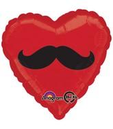 """28"""" Mustache Heart Jumbo Balloon"""
