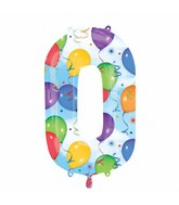 """35"""" SuperShape 0 Balloons & Streamers Balloon Packaged"""