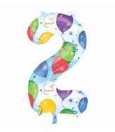 """35"""" SuperShape 2 Balloons & Streamers Balloon Packaged"""