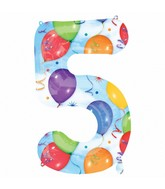 "34"" SuperShape 5 Balloons & Streamers Balloon Packaged"