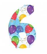 """35"""" SuperShape 6 Balloons & Streamers Balloon Packaged"""