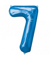 "34"" SuperShape 7 Blue Balloon"
