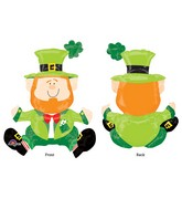 """22"""" Airfill Only Sitting Leprechaun Balloon Packaged"""