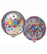 "16"" Congrats Dotty Geometric Orbz Balloons"