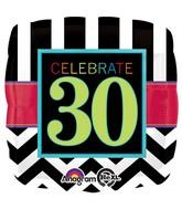 "18"" Birthday Celebration 30 Balloon Packaged"