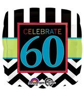 "18"" Birthday Celebration 60 Balloon Packaged"