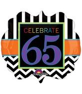 "25"" SuperShape Birthday Celebration 65 Balloon Packaged"