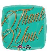 "18"" Gold Sparkle Thank You!"