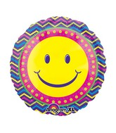"21"" ColorBlast Smiley Blast Balloon"