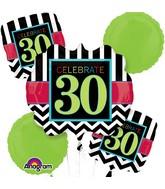 Bouquet Birthday Celebration 30 Balloon Packaged