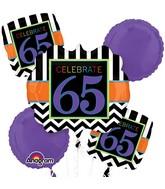 Bouquet Birthday Celebration 65 Balloon Packaged