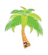 """33"""" SuperShape Summer Scene Palm Tree Balloon"""