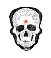 "24"" SuperShape Black & Bone Balloon Packaged"