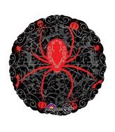 """18"""" Black & Bone Spider Web Balloon"""