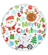 "18"" Merry Christmas Icons Balloon"