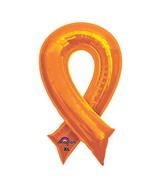 """36"""" SuperShape Orange Cause Ribbon Balloon"""