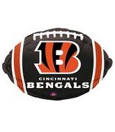 Junior Shape Cincinnati Bengals Team Colors Balloon