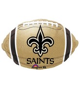 Junior Shape New Orleans Saints Team Colors Balloon