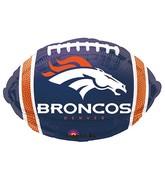 Junior Shape Denver Broncos Team Colors Balloon