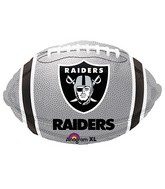 Junior Shape Oakland Raiders Team Colors Balloon