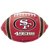 Junior Shape San Francisco 49ers Team Colors Balloon