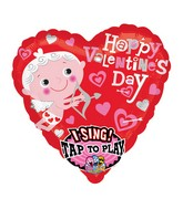 """29"""" Singing Happy Valentines Day Cupid Packaged"""