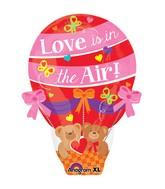 """22"""" Junior Shape Love is in the Air Balloon Balloon"""