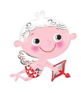 "30"" SuperShape Cupid Strikes Balloon"