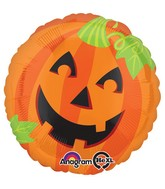 "28"" Jumbo Pumpkin Smiles Balloon"
