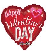 Jumbo Happy Valentines Day Heart Arrow Balloon