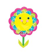 "29"" SuperShape Smiley Flower Balloon Packaged"