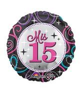 "18"" Mis Quince Sparkle Balloon"
