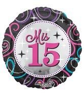 """28"""" Jumbo Mis Quince Sparkle Balloon"""