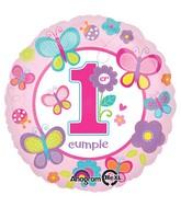 "18"" Primera Cumpleanos Mariposa Balloon"