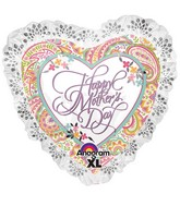 """28"""" SuperShape Happy Mother's Day Paisley"""