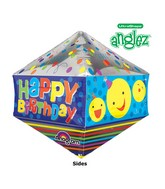 "21"" UltraShape Anglez Happy Birthday Smiley Packaged"