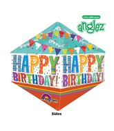 "21"" UltraShape Anglez Bright Bold Happy BDay Packaged"