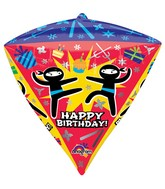 "17"" Ultrashape Diamondz Ninja Birthday Balloon Packaged"