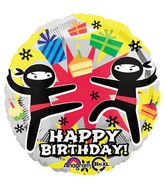 "18"" Ninja Birthday Balloon Packaged"