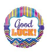 "21"" ColorBlast Good Luck Stripe & Chevron Balloon"