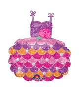 """28"""" SuperShape Party Dress Balloon Packaged"""