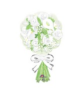 """30"""" SuperShape Bouquet For the Bride Balloon Packaged"""