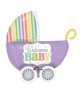 """32"""" UltraShape Baby Brights Balloon Packaged"""