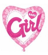 "36"" Multi-Balloon Celebrate Baby Girl Balloon Packaged"