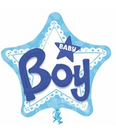 "32"" Multi-Balloon Celebrate Baby Boy Balloon Packaged"