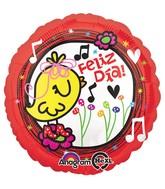 "18"" Feliz Dia Yellow Birdie Balloon"