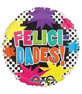 """18"""" Felicidades Bright Bursts Balloon"""