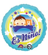 """18"""" Es Nino Baby Boy In Bed Balloon Packaged"""